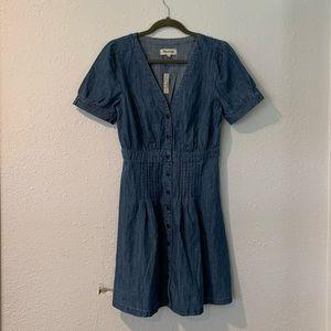 NWT Madewell denim a line dress